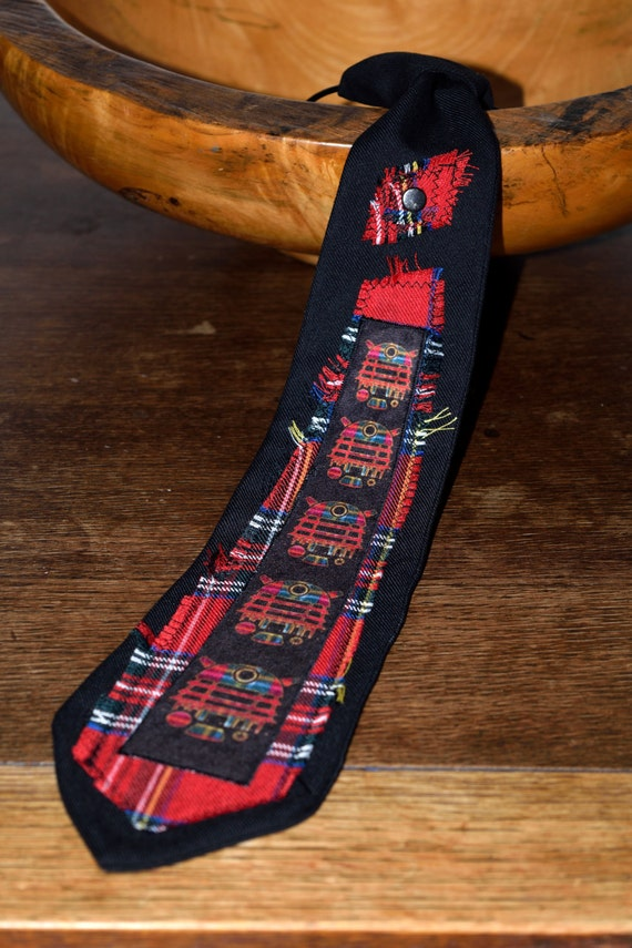 Tartan Dalek Tie - Mens Tie - Dr Who - Mens Gift - Gifts for Him - Accessories for Men - Alternative Clothing - Alternative Apparel  - Punk