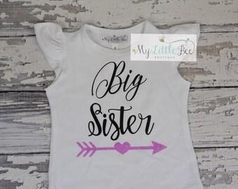 Big sister, Big sister to be, Sister shirt, Sibling Shirt