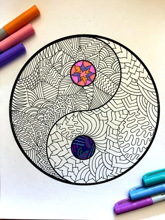 ying yang yo coloring pages - photo#49