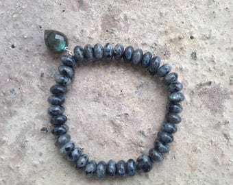 Labradorite Dew Drop stretch Bracelet
