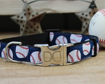 Baseball Dog Collars