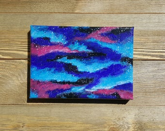Original galaxy nebula star stars acrylic art arts painting wall hanging Desk Decoration decor him her gift cloud clouds outer space