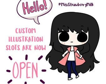 Custom Illustration   Custom Chibi   Kawaii Chibi   Kawaii Sticker   Custom Sticker   Cute Illustration   Custom Portrait   Custom Portrait