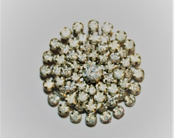Vintage Rhinestone Brooch! BIG, BOLD & BEAUTIFUL!