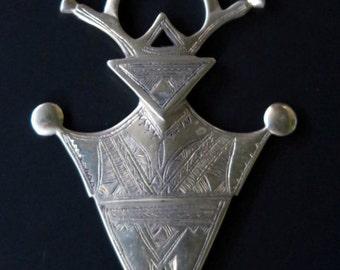 HUGE TUAREG NECKLACE - Extra large African Tuareg Cross of Agadez Pendant Necklace