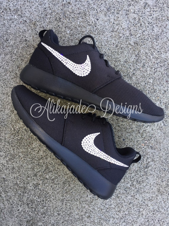 c380263313752 Swarovski Women s Black NIKE ROSHE ONE with by AlikajadeDesigns 30 ...