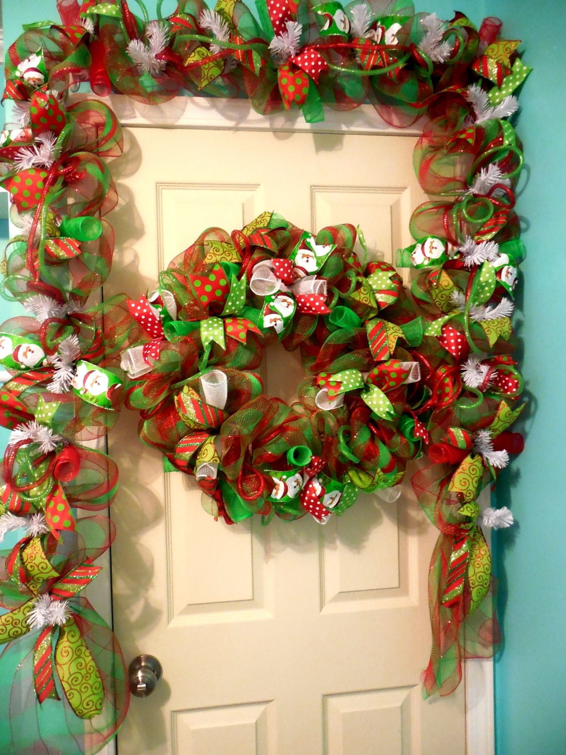 Christmas garland door garland fireplace garland christmas for Door garland christmas
