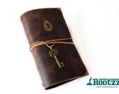 RG XL Traveler's notebook vintage with keyhole and key- midori like- fauxdori