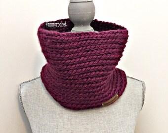 handcrafted crochet short cowl