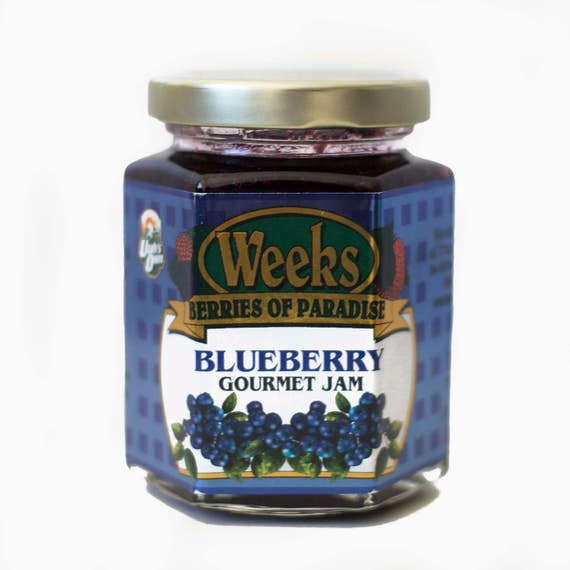 Blueberry Jam, All Natural, Organic, Gourmet - Utah's Own, Preserves, Jelly, Marmalade