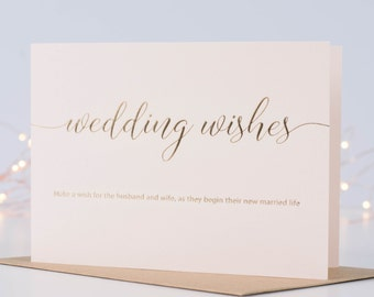 Wedding Card, Wedding Day Card, Marriage Card, Newly Wed Card, Sentimental Message, Make A Wish Card, Bride And Groom Card, Card For Bride