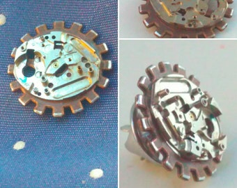 Steampunk, Tie tack, dapper gent, steampunk pin, steampunk tie tack, lapel pin, steampunk lapel pin, handmade steampunk, pin, steampunk #3