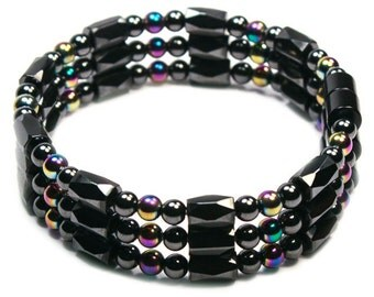 Magnetite Magic Triple Strand (Magnetic Bracelet, Necklace, Anklet) - Classic Collection - Noble