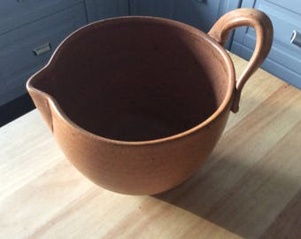 Hand thrown pottery batter bowl