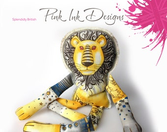 Embroidery kit lion. Colour, cut and create.