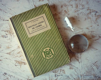 """School book """"Chemistry"""" for math - manual class school vintage - french school book"""