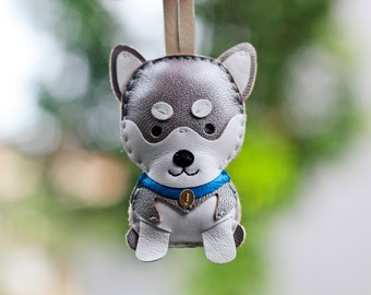 Cole The Siberian Husky Leather Charm