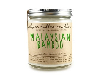 Summer Candle - Malaysian Bamboo 8oz Soy Candle | Candles, Wood, Natural Candles, Eco-Friendly, Floral, Spring, Summer