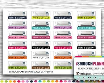 Print and Cut Day Stickers | Erin Condren Life Planner (ECLP) | Happy Planner | #ISP042