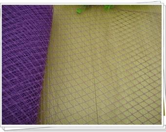 Purple Veil Net, fascinators and millinery 1 yard Hat Trim Border, accessorize