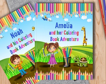 Personalised Coloring Book for Kids - A Fun Coloring Book Adventure to Help Learn the Alphabet and Animals - A Great Gift for Children
