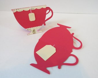 """Valentine's Day card, Greeting card """"Cup of tea"""""""