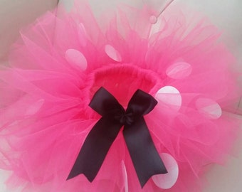 Minnie Mouse Tutu, Minnie Mouse Tutu Set, Minnie Halloween Costume, Minnie Mouse Pink Costume,  Size  Newborn - 6X