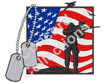 Patriotic Material Machine Embroidery Design