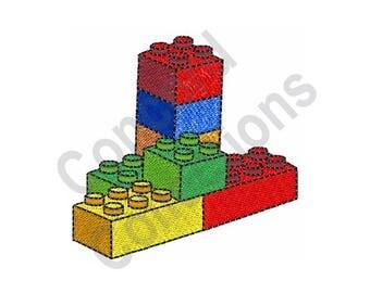 Lego Blocks Machine Embroidery Design