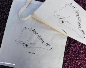 "Tote-bag ""bear dormiloso"""