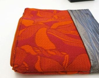 Magenta, Orange with metallic silver clutch