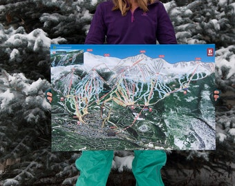 Breckenridge Gallery Wrapped Canvas Giclee Map