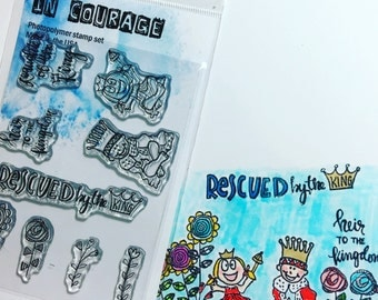 Bible Journaling, Card Making, Scrapbooking Stamp Set Rescued.