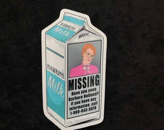 Barb Strangers Things Milk Carton Sticker