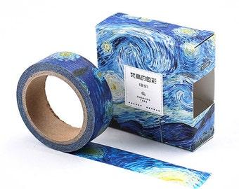 The Starry Night Van Gogh Japanese Washi Tape Masking Tape - WT322