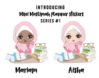 Mini Muslimah Planner sticker (Mariam)