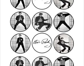 Edible Elvis Presley Dancing Cupcake Cookie Toppers