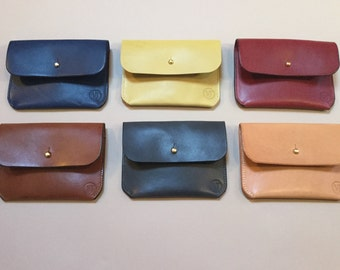 Leather coin purse, card & money holder