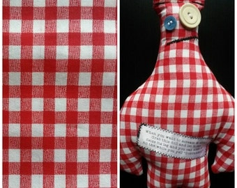 Dammit Doll: Red Gingham