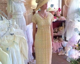 Vintage Lace dress & Hat