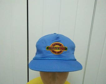 Rare Vintage CARSON STATION Hotel Casino Embroidered Cap Hat Free size fit all Made in USA