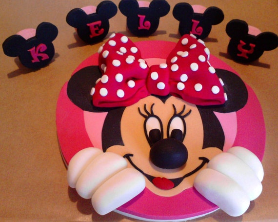 minnie mouse cake topper handmade minnie mouse edible cake toppers 5944
