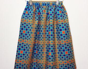 African Print Skirt // Elastic Waist Skirt // Printed Skirt // Skirt with Pockets