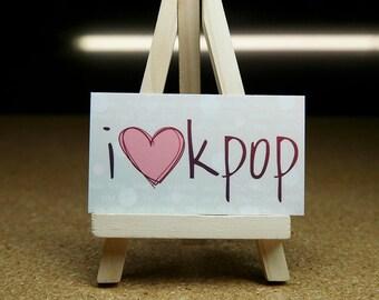"""Super Cute """"I love Kpop"""" Sticker"""