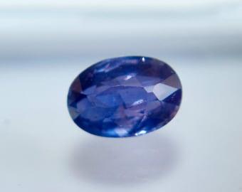 Ceylon Natural Blue Purple Sapphire  Oval 6.80 mm 1.10Cts