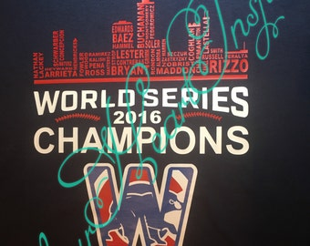 Chicago cubs World Series champions skyline shirt