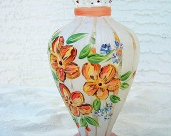 "Hand Painted 6 1/2"" Vase"