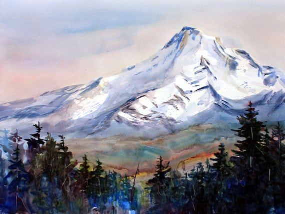 Mt. Hood 227 - signed print - Bonnie White - watercolor