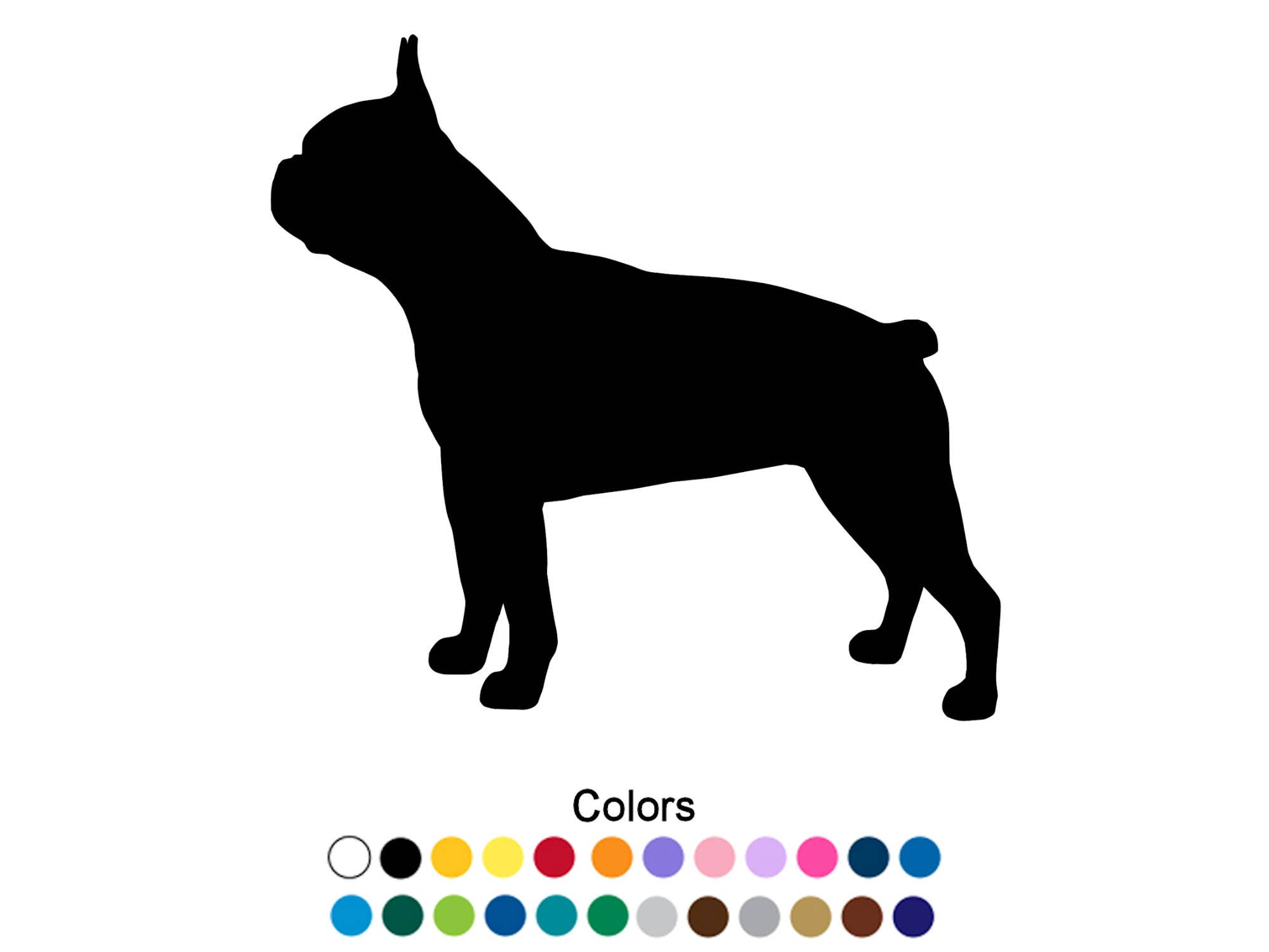 Boston Terrier Sticker Outdoor Vinyl Boston Terrier Decal - Custom vinyl decals boston
