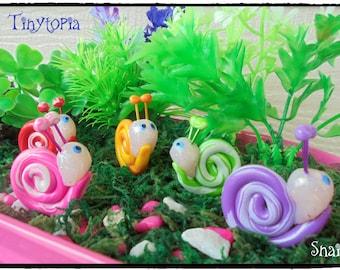 Miniature Swirly Snails~Fairy Garden Accessory